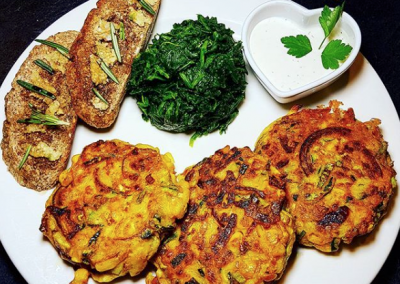 Courgette and Tofu Fritters